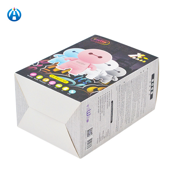 Foldable Window Display Card Board Box with Paper Tray