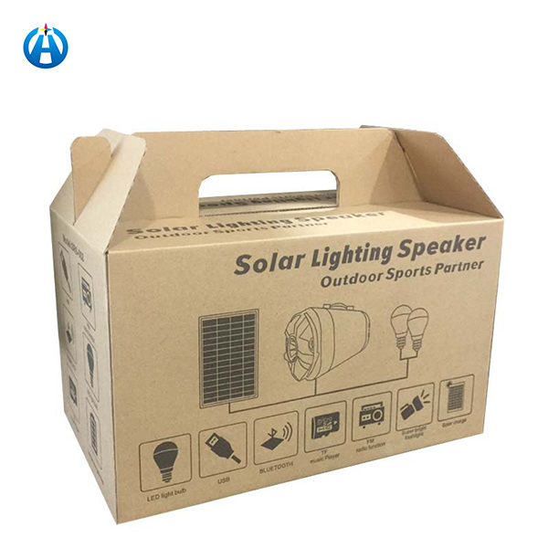 Kraft Paper Gift Box Carton Corrugated Paper with Handle