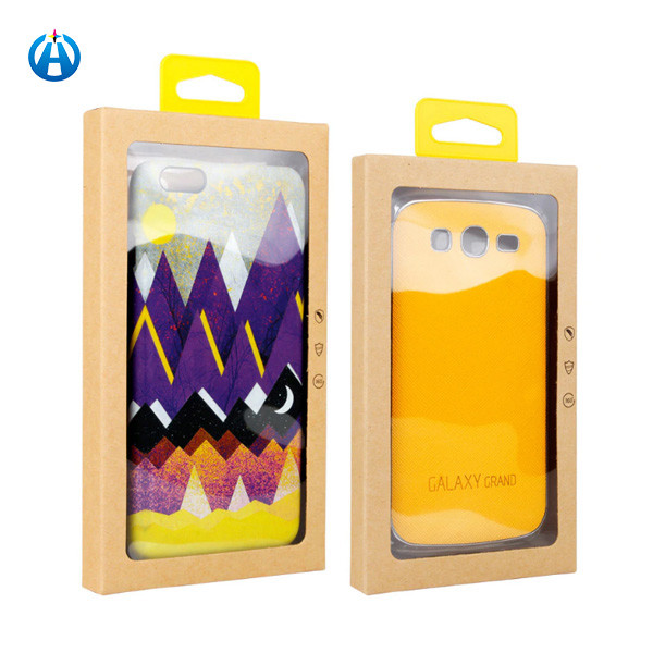 Cell Mobile Phone Accessories Case Kraft Paper Boxes