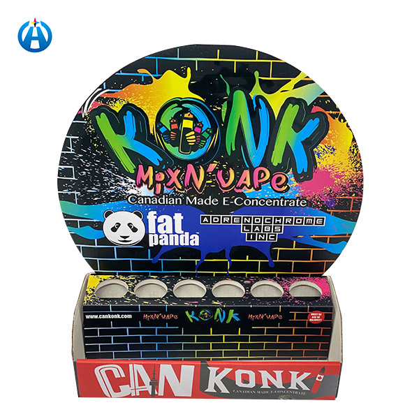 Colorful Printed Corrugated Paper Small Retail Counter Display Box
