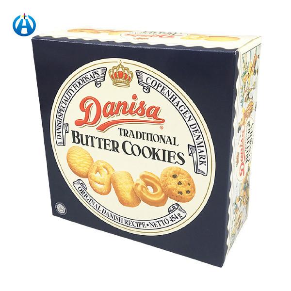 Christmas Food Packaging Window Box For Cracker Cookie Biscuit