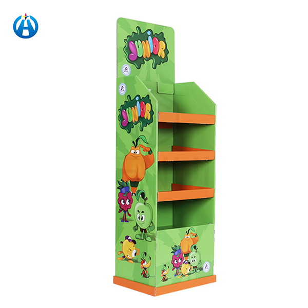 Cost-effective Paper Shelves Corrugated Box  Advertising Stands Display Shelf