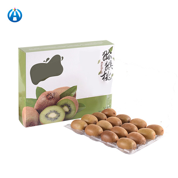 Cardboard Fruit Packaging Box with Handle and Tray