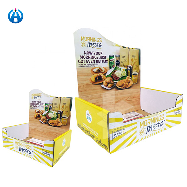 Food Packaging Counter Box PDQ Display for Snack
