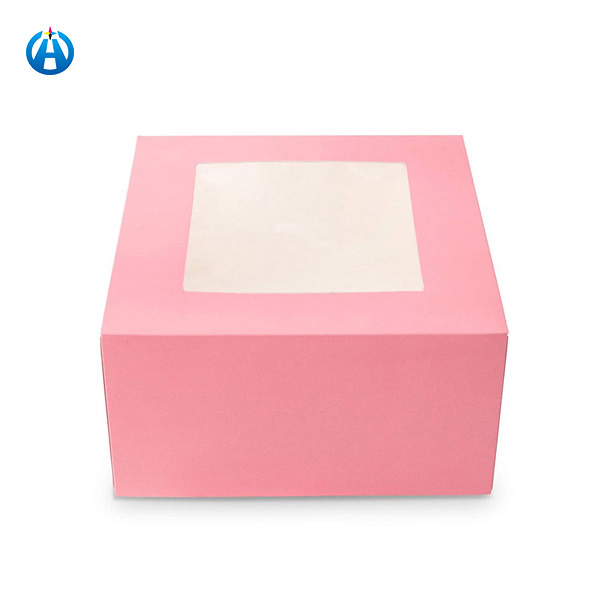 CakeEco Friendly Custom Christmas Cake Packaging Paper Gift Boxes With Window