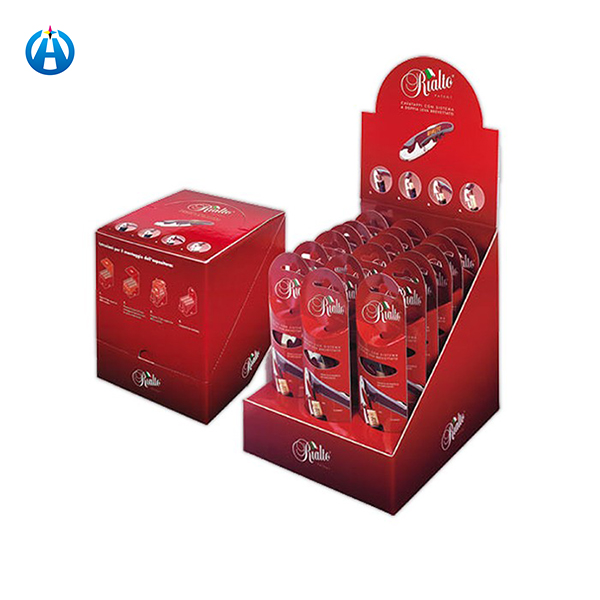Printed Corrugated Cardboard Counter Paper Merchandising Snack Toy Display Box