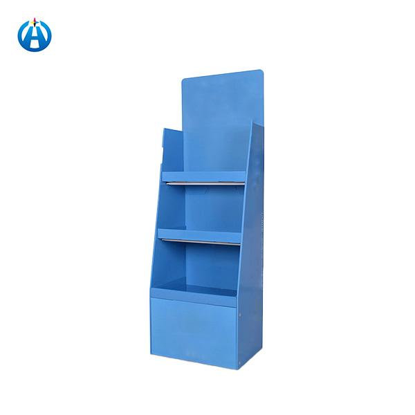 Promotion Cardboard Corrugated Paper Floor Display Stand Shelf