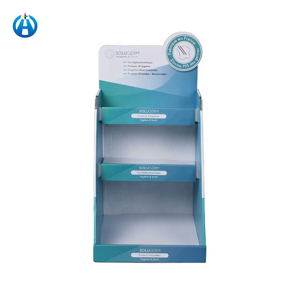 Promotional 3 Floor Paper Cardboard Corrugated Display Stand Box