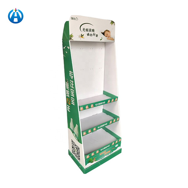 Strong Hard Paper Cardboard Mosquito Repellent Liquid Display Stand Shelves