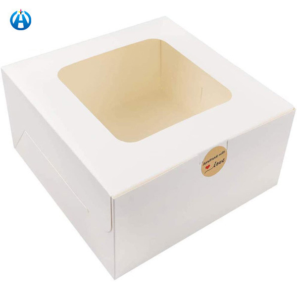 White Bakery Boxes with Window Cake Box for Pastries, Cookies, Pie, Cupcakes