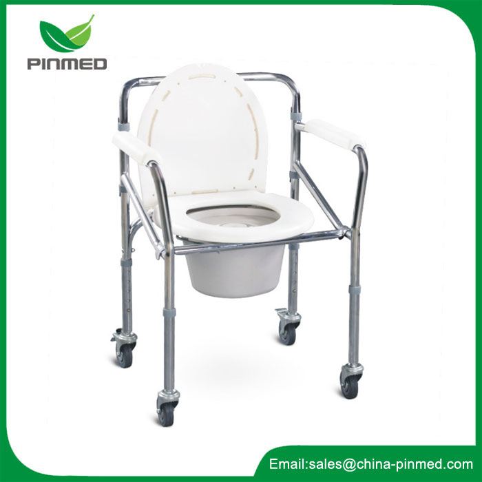 Commode Chair With Four Castors