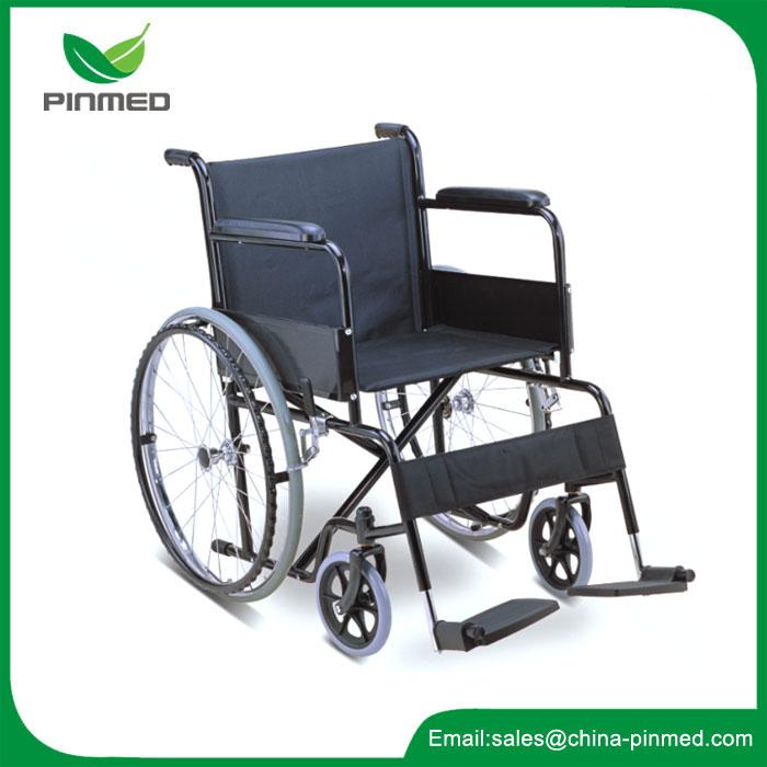 Ocelový invalidní vozík