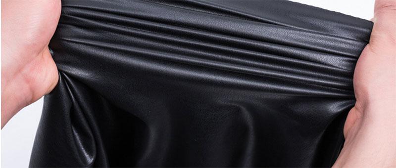 خدمة العملاء بو الجلود سروال نسيج جلد الغنم جلد اصطناعي نسيج مرن جلد مرن في الأسفل