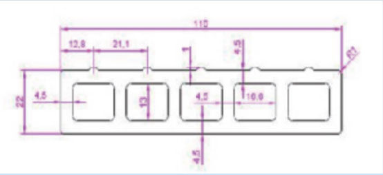 FPC83A5-110mm*22mm-1700G/M