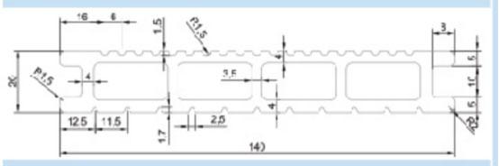 FPC81A4-20MM*140MM-1700G/M