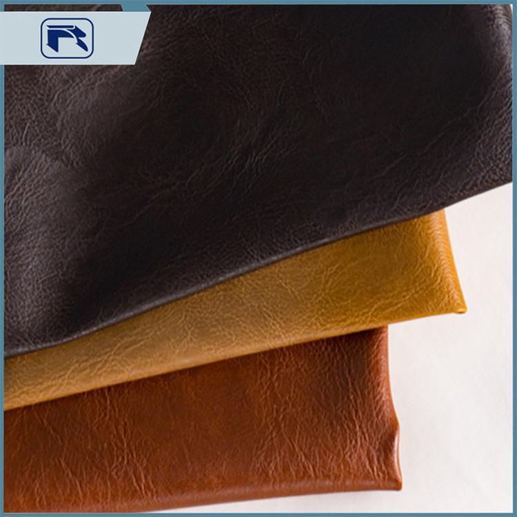 PU Leather 1.0 Retro Set Color Crazy Horse Leather Fabric Sofa Cushion Furniture Faux Leather Bag Faux Leather