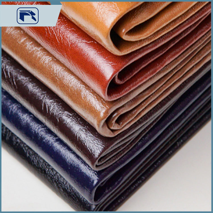 PU Leather Thickened 6P Vintage Oil Leather Bag Sofa Cushion Furniture Leather Fabric Soft Bag Artificial Leather