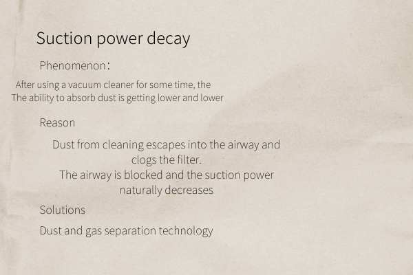 suction power decay