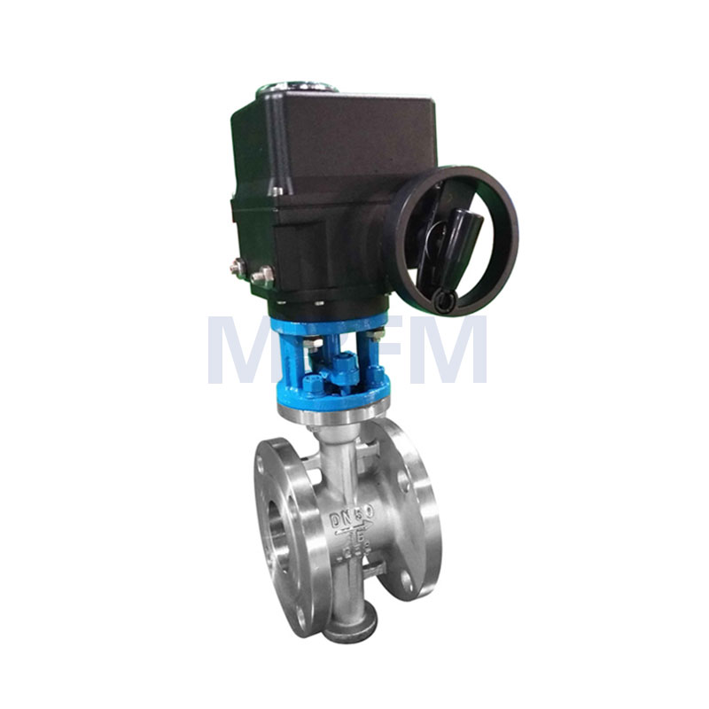 Electric Bard Seal Flange Butterfly Valve