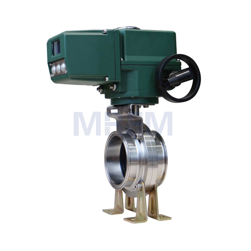 Electric Explosion-proof Intelligent Quick-install Sanitary Butterfly Valve