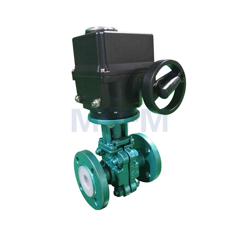 Electric Fluorine Lined Ball Valve