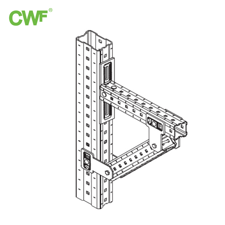 Channel Steel Column Diagonal Support Arm System