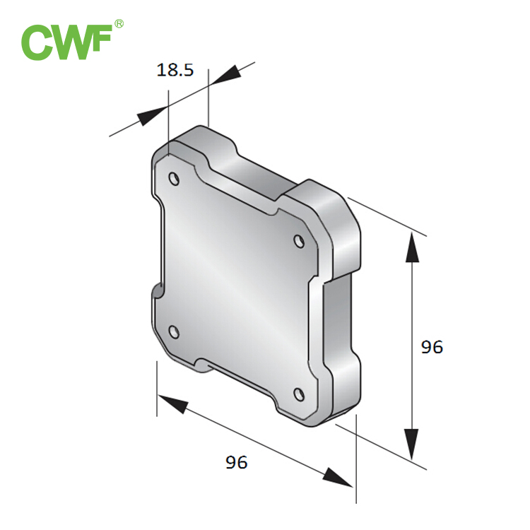 Channel Steel End Cover WH-EC90