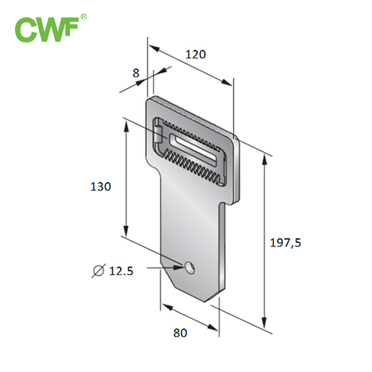 Inclined Hinge Connecting Piece WH-U-A