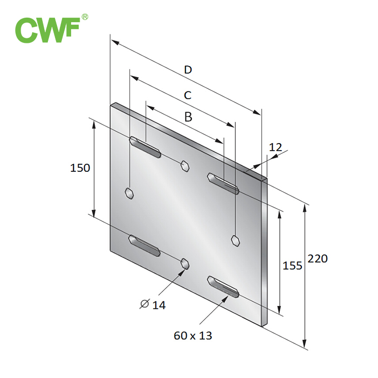 Steel Structure Base Plate WH-SF/4