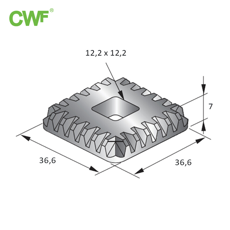 Toothed Gasket WH-F-P90 M12