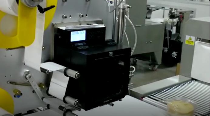 Automatic Cake Horizontal Printing and Labeling Machine