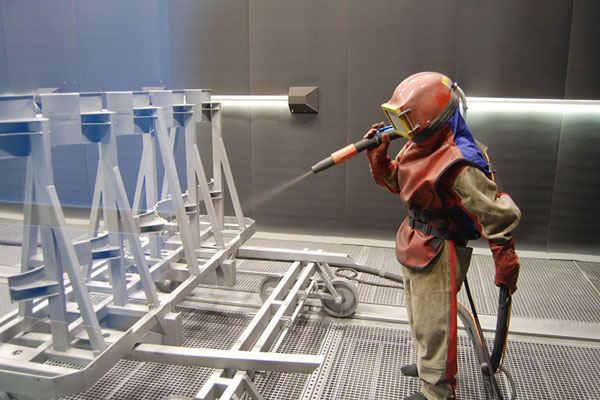 Process characteristics of dust collector in sand blasting room