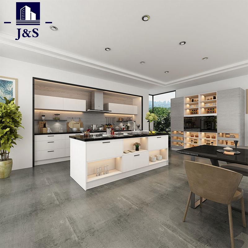 Modern White Kitchen Cupboard Tall Cabinets Maker