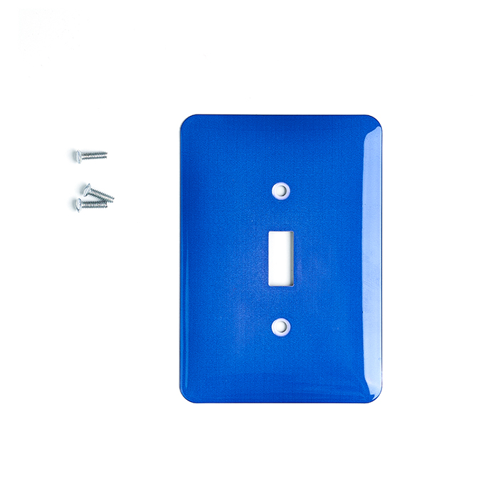 Saf Mavi Sublimasiya İşıq Anahtarı Plaka Qapaqları