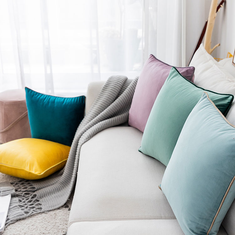 Velvet Cushion Cover Size 45Length 45Width cm 18Length 18Width Inch