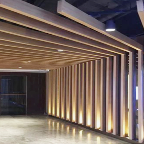 Simulated Wood Grain Aluminum Square Tube
